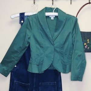 Hei Hei Anthropologie Green Tailored Jacket